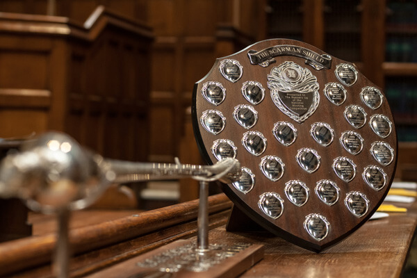 Mooting trophies